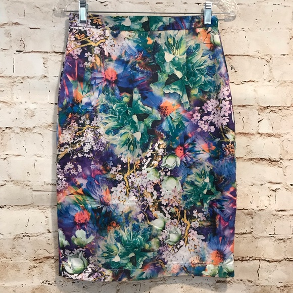 Kingdom and State Dresses & Skirts - Kingdom & State | Multi Floral Pencil Skirt Small